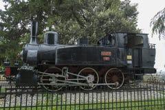 Locomotief in de stad van Bergamo, Itali? royalty-vrije stock foto