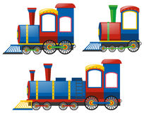 Locomotief in drie ontwerpen stock illustratie