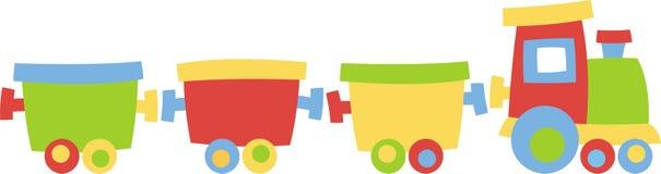 Locomotief met vervoer royalty-vrije illustratie