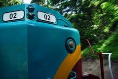 Locomotief in motie   royalty-vrije stock foto's