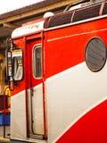 Locomotief in Roemenië wordt gemaakt dat Royalty-vrije Stock Afbeeldingen