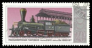 Locomotief 1863 van de passagiersstoom stock afbeelding