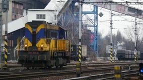 Locomotief zonder Wagens stock footage