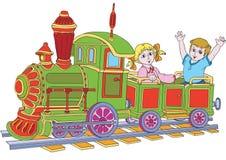 Locomotiva ilustração do vetor