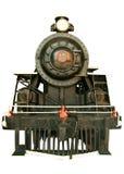 Locomotiva de vapor preta Imagens de Stock Royalty Free