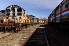 Locomotiva abandonada - trem - Ohio foto de stock royalty free
