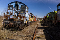 Locomotiva abbandonata - treno - l'Ohio fotografie stock libere da diritti