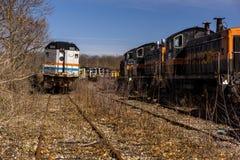 Locomotiva abbandonata - treno - l'Ohio fotografia stock libera da diritti