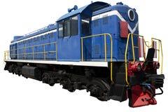 Locomotiva blu Fotografie Stock