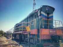 Locomotiva CHME-3 del treno Fotografie Stock