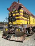 Locomotiva d'annata, museo della ferrovia di Portola fotografie stock