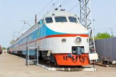 Locomotiva da estrada de trilho Fotografia de Stock