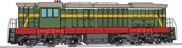 Locomotiva de desvio do vetor Foto de Stock