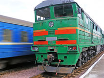 Locomotiva de diesel Imagens de Stock
