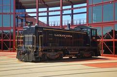 Locomotiva de diesel da estrada de ferro de Lackawanna, Scranton, PA, EUA fotos de stock