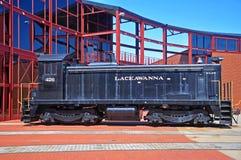 Locomotiva de diesel da estrada de ferro de Lackawanna, Scranton, PA, EUA foto de stock royalty free