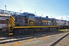 Locomotiva de diesel da estrada de ferro de Lackawanna, Scranton, PA, EUA fotografia de stock royalty free