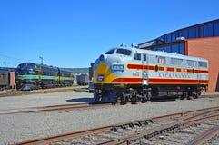 Locomotiva de diesel da estrada de ferro de Lackawanna, Scranton, PA, EUA fotografia de stock