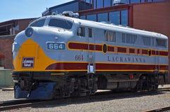 Locomotiva de diesel da estrada de ferro de Lackawanna, Scranton, PA, EUA fotos de stock royalty free