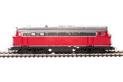 Locomotiva de diesel do brinquedo imagens de stock