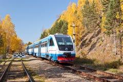 Locomotiva de diesel moderna Imagem de Stock Royalty Free