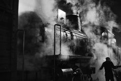 Locomotiva de vapor Fotos de Stock