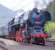 Locomotiva de vapor Imagem de Stock