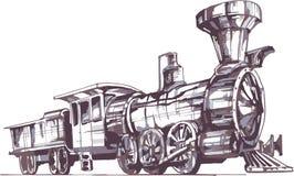 Locomotiva de vapor 1 fotografia de stock