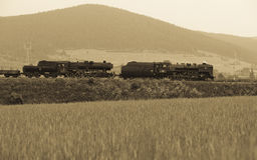 Locomotiva de vapor Foto de Stock Royalty Free