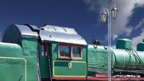 Locomotiva de vapor antiga, museu de Moscou da estrada de ferro em Rússia vídeos de arquivo