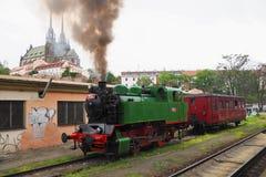 Locomotiva de vapor, Brno, Moravia sul, república checa Imagens de Stock