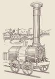 Locomotiva de vapor Cherepanovs ilustração royalty free