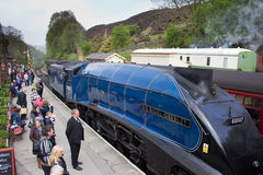 Locomotiva de vapor de Sir Nigel Gresley foto de stock royalty free
