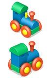 Locomotiva de vapor do brinquedo Imagens de Stock