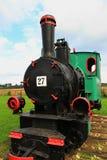 Locomotiva de vapor do calibre estreito foto de stock