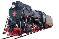Locomotiva de vapor do vintage foto de stock