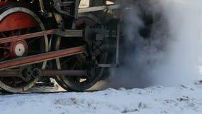 Locomotiva de vapor do volante video estoque