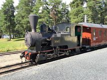 Locomotiva de vapor em Noruega foto de stock royalty free