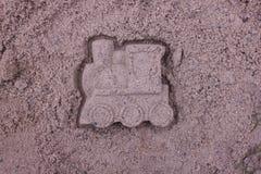 Locomotiva de vapor feita da areia Fotos de Stock Royalty Free