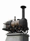 Locomotiva de vapor isolada Fotos de Stock Royalty Free
