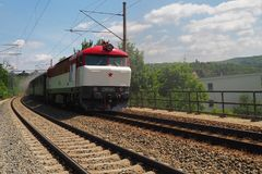 Locomotiva de vapor, Moravia sul, república checa Fotografia de Stock Royalty Free