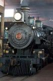 Locomotiva de vapor no depósito Fotografia de Stock Royalty Free