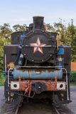 Locomotiva de vapor oxidada velha Fotografia de Stock Royalty Free