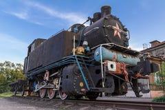 Locomotiva de vapor oxidada velha Foto de Stock Royalty Free