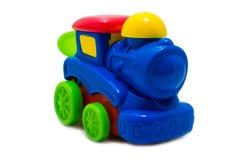 Locomotiva de vapor plástica brilhante colorido do brinquedo Imagens de Stock