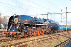Locomotiva de vapor 475 1, república checa Imagem de Stock Royalty Free