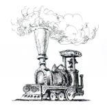 A locomotiva de vapor velha Foto de Stock Royalty Free