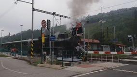 Locomotiva de vapor velha video estoque