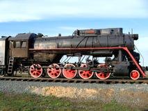 A locomotiva de vapor velha. Fotografia de Stock Royalty Free