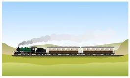 Locomotiva de vapor velha histórica ilustração royalty free